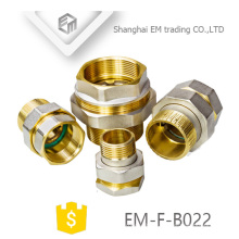 EM-F-B022 Chromed brass equal union russia pipe fitting